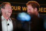 George W. Bush says Prince Harry is charming.