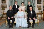 Queen Elizabeth, Prince Philip, Prince Edward, Prince Charles, Prince Andrew and Princess Anne