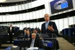 "EU chief Brexit negotiator Michel Barnier told the European Parliament that ""no deal (Brexit) is not a destination, it is a temporary step"""
