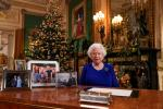 Britain's Queen Elizabeth II after she recorded her annual Christmas Day message, in Windsor Castle, west of London