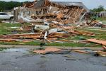 This handout photo obtained April 13, 2020 courtesy of the City of Monroe, Louisiana shows the aftermath of storm damage after tornadoes ripped through southern US states on Easter Sunday