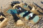 In celebration of normalisation, Israeli sand sculptor Tzvi Halevi and his brother Yossi build replicas of the UAE's most distinctive landmarks on the beach in Tel Aviv