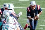 New England quarterback Cam Newton rushed for two touchdowns in the Patriots' victory over Miami