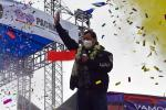 Socilaist candidate Luis Arce waving to his supporters ahead of the election that propelled him to Bolivia's presidency