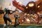 A squad of Guardians fighting back the Cabal in Destiny 2