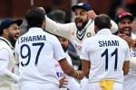 Elation - India captain Virat Kohli (3R) celebrates with Ishant Sharma (2L) and team-mates after a 151-run win over England in the second Test at Lord's on Monday