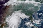 Tropical Storm Nicholas off the coastline of the US state of Texas at 13H40 UTC on September 13, 2021