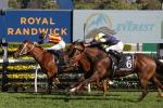 Nature Strip, ridden by jockey James McDonald, wins The Everest at the Royal Randwick race course in Sydney