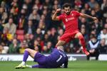 Mohamed Salah of Liverpool sees a chance saved by Ben Foster of Watford