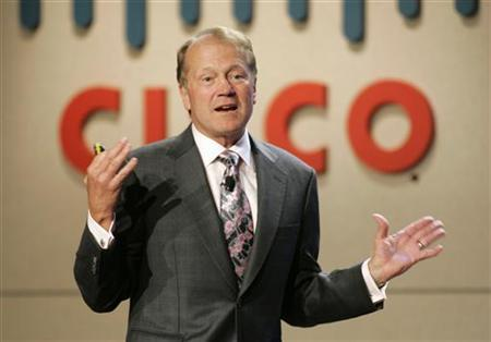 John Chambers, CEO of Cisco Systems, speaks during a news conference at at the 2010 International Consumer Electronics Show (CES) in Las Vegas