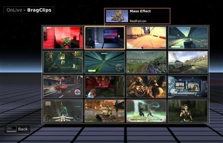 "A screengrab courtesy of OnLive, a new videogame company aiming to challenge the big three console makers by providing a ""cloud-based"" gaming system"