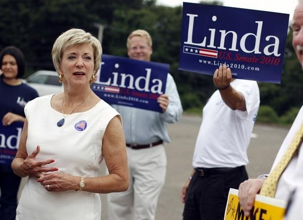 Republican candidate in the 2010 race for U.S. Senator from Connecticut Linda McMahon, former World Wrestling Entertainment CEO,