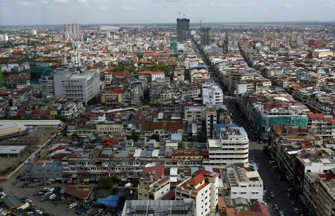 A view of Phnom Penh