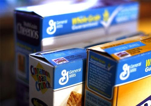 General Mills cereals are displayed on a kitchen counter in Golden, Colorado