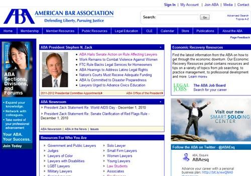 American Bar Association website