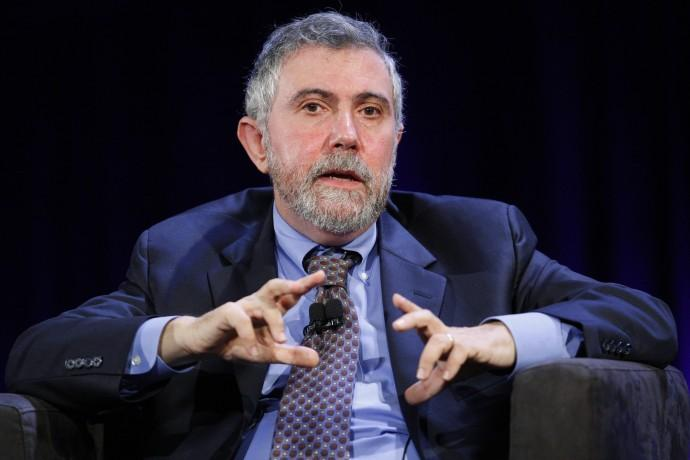 Nobel Prize winning economist Paul Krugman speaks during the World Business Forum in New York