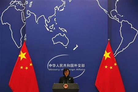 China's Foreign Ministry spokeswoman Jiang speaks during a news conference in Beijing