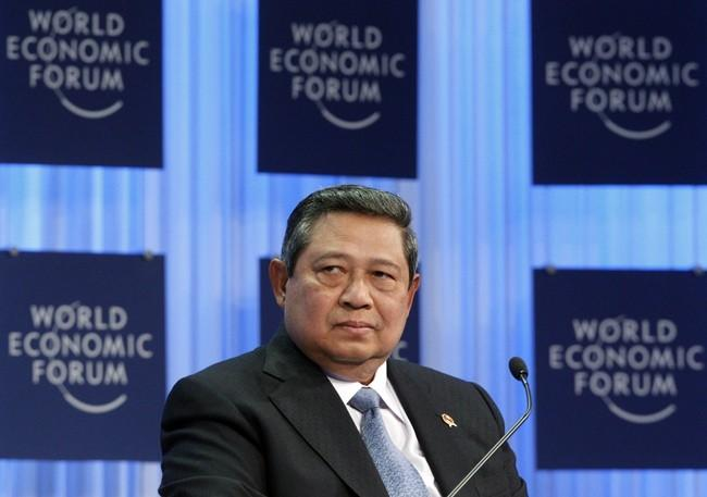 Indonesia's President Susilo Bambang Yudhoyono attends a session at the World Economic Forum (WEF) in Davos January 27, 2011.