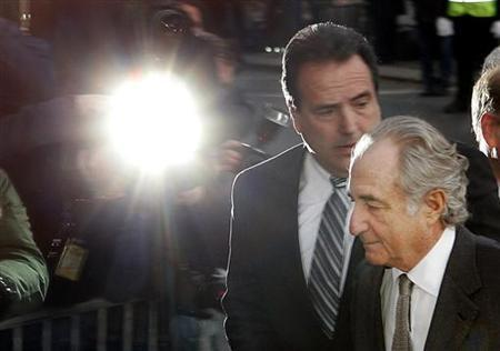 Bernard Madoff enters the Manhattan federal court house in New York