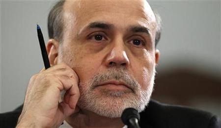 Chairman of the Federal Reserve Bernanke testifies on the state of the U.S. economy before the House Budget Committee on Capitol Hill in Washington