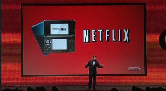 Nintendo said Netflix will be available on the Nintendo 3DS gaming console.