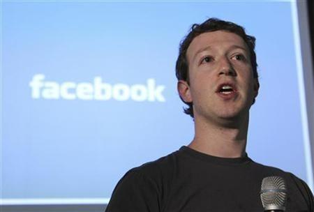 Facebook Founder & Chief Executive Officer Mark Zuckerberg
