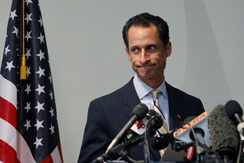 U.S. Rep. Anthony Weiner announces that he will resign from the United States House of Representatives during a news conference in Brooklyn, New York