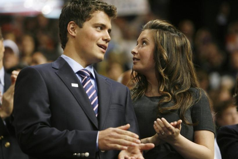 Bristol Palin and boyfriend Levi Johnston at the 2008 Republican National Convention in St Paul
