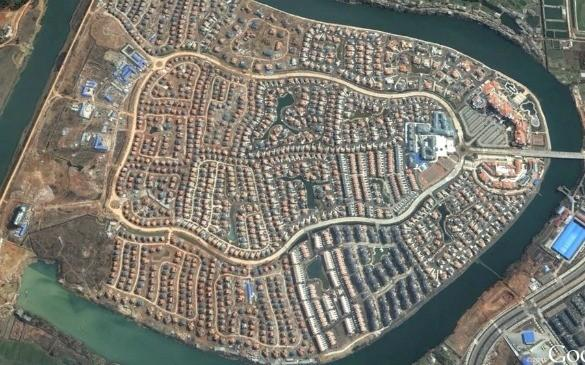 Satellite Image Of Chinese Ghost Town