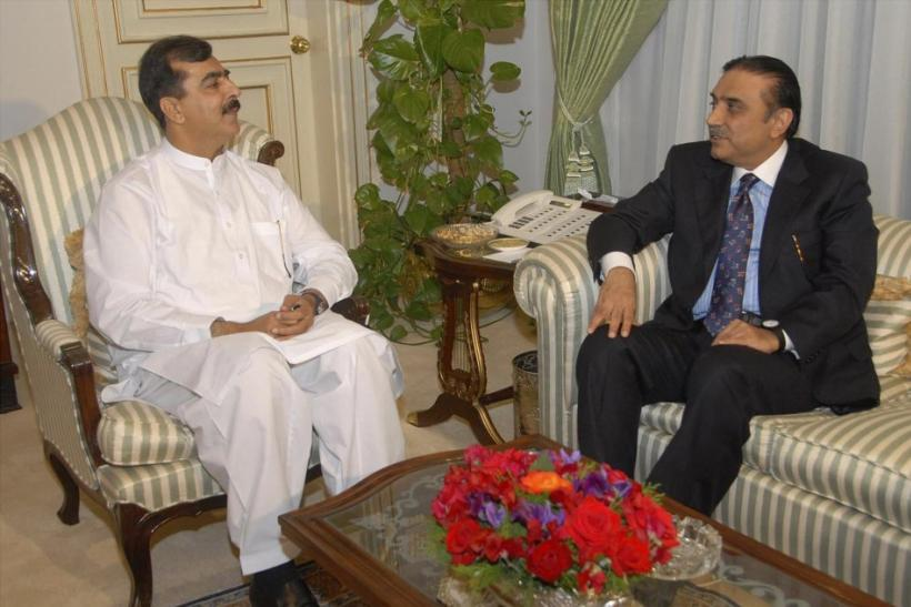 Asif Ali Zardari and PM Gilani in Islamabad