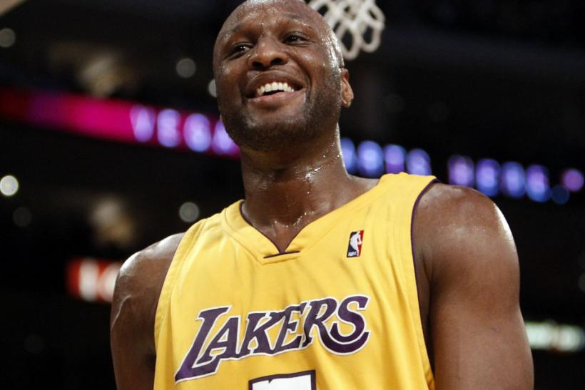 NBA player Lamar Odom