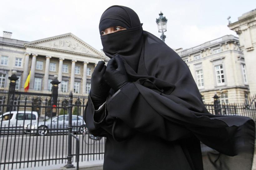 File photo of Salma, a 22-year-old French national living in Belgium who chooses to wear the niqab after converting to Islam, in Brussels