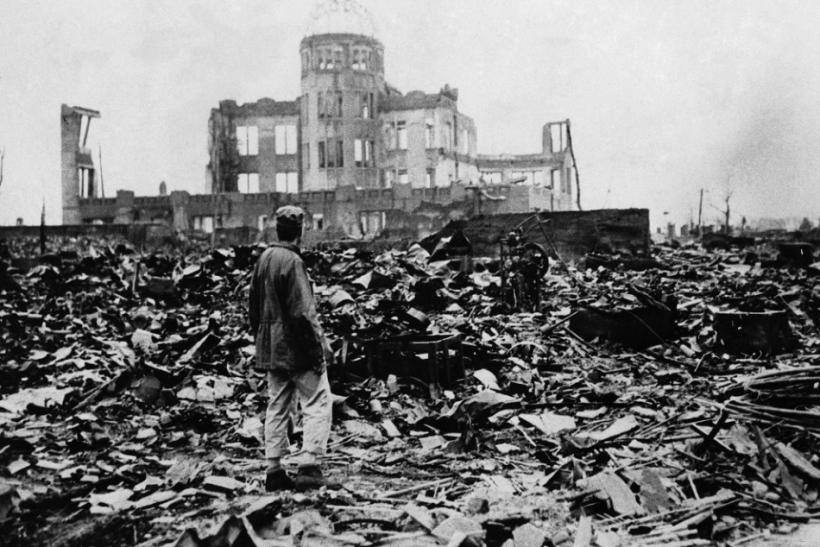 The aftermath of the bombing of Hiroshima