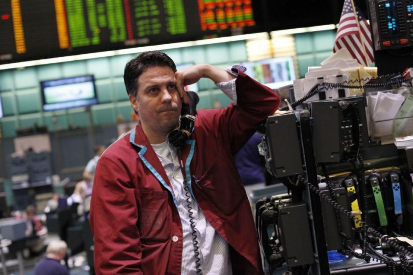 A trader works in the crude oil and natural gas options pit on the floor of the New York Mercantile Exchange in New York