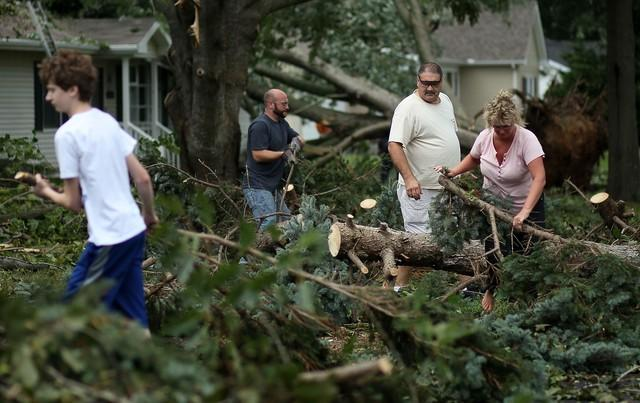 Storm damage in Lewes, Del.