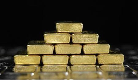 Gold and silver bars are pictured at the Austrian Gold and Silver Separating Plant 'Oegussa' in Vienna August 26, 2011.