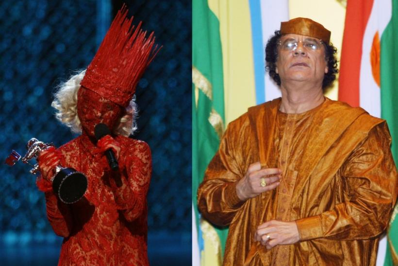 Lady Gaga and Muammar Gaddafi in Their Most Weird Outfits