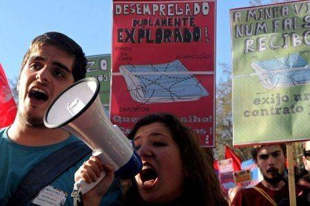 Portugese youth protest over budget cuts