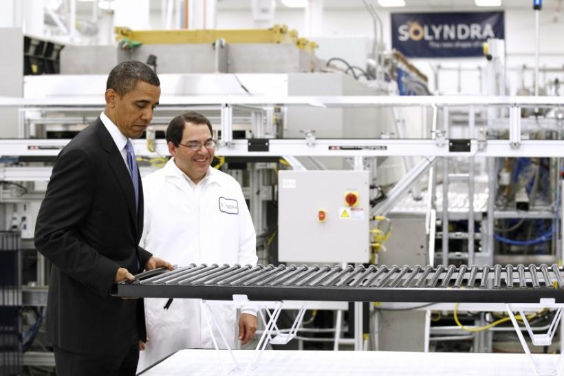 Obama tours a solar panel factory in Fremont, California