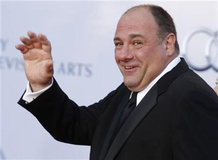 Actor James Gandolfini arrives at the BAFTA Brits to Watch event in Los Angeles