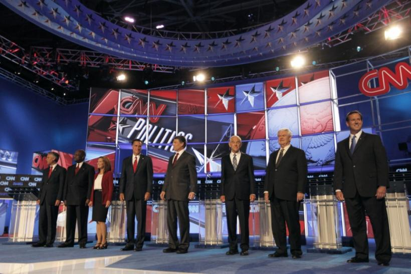 Face Off: Candidates Make Rick Perry to be Defensive in 'Tea Party' Debate