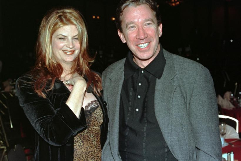 "Kirstie Alley and actor Tim Allen, stars of the new romantic comedy film ""For Richer or Poorer"", pose together at a party following the film's premiere December 4 in Los Angeles."