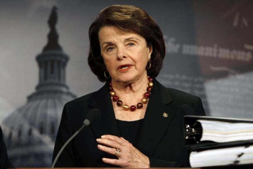 U.S. Senate Intelligence Committee Chairman Senator Feinstein speaks about START Treaty on Capitol Hill in Washington