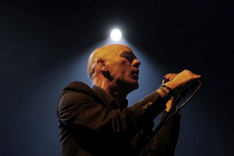 Michael Stipe, lead singer of the rock band R.E.M, performs during a concert in Lima. Reuters/Pilar Olivares
