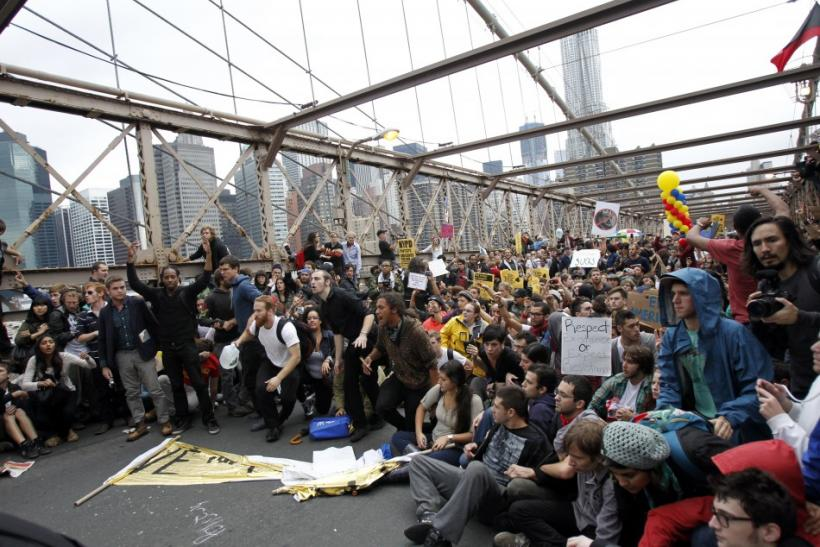Occupy Wall Street Brooklyn Bridge