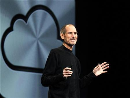 Steve Jobs talks about the iCloud service at the Apple Worldwide Developers Conference in San Francisco