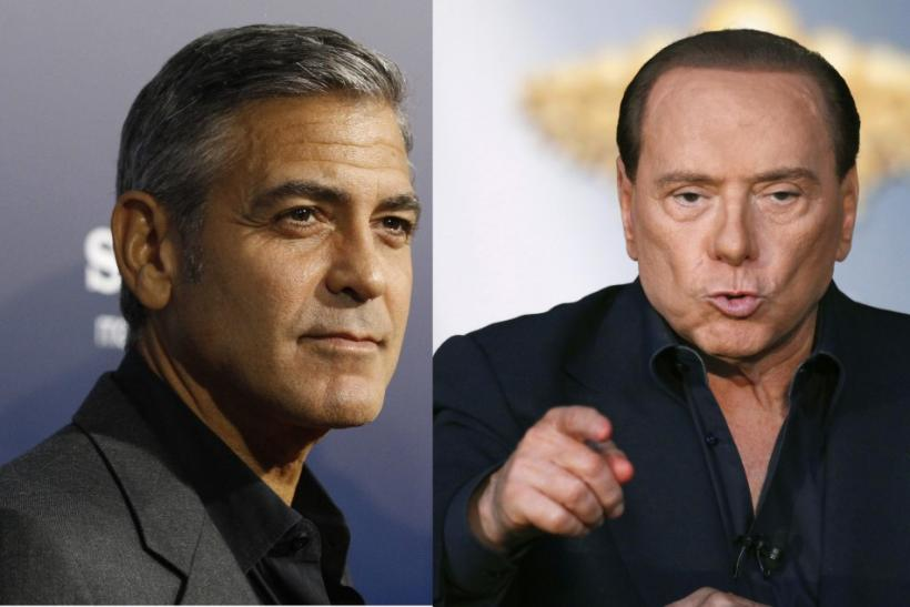 Clooney and Berlusconi