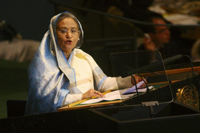 Prime Minister of Bangladesh Hasina speaks during the 64th United Nations Gener