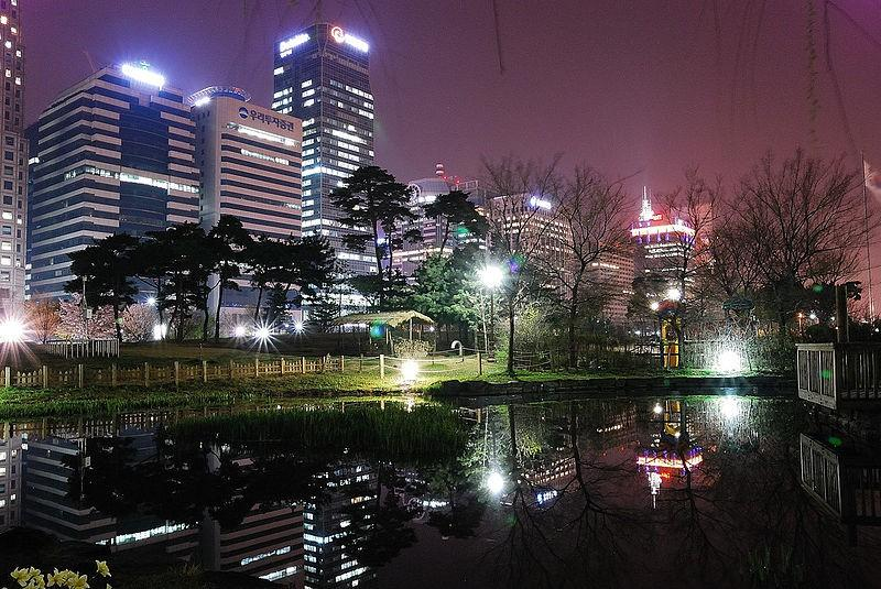 Yeouido, the Korean capital's principal business and financial district