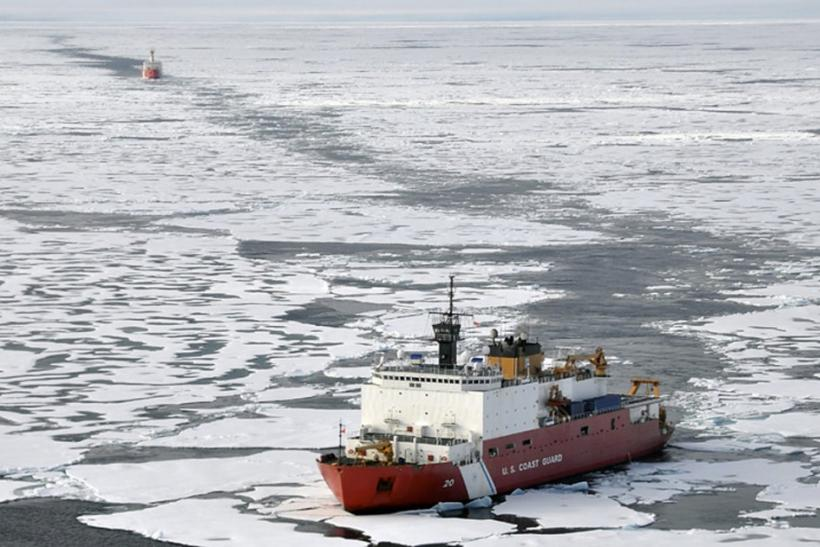 U.S. and Canadian ships on an Arctic mission.